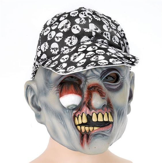 Zombie Mask + Hat And Hanging Eye (Halloween Masks)
