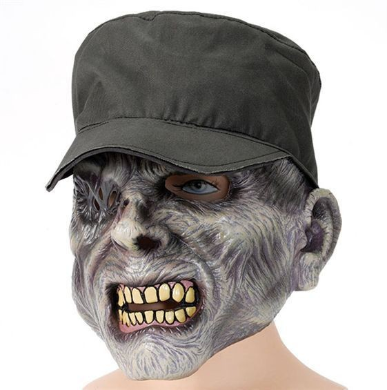 Zombie Mask + Hat. Sarge (Halloween Masks)