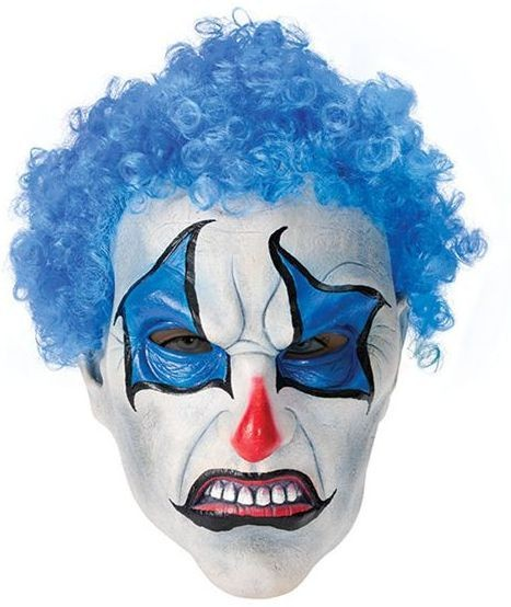 Psycho Blue Clown (Clowns Fancy Dress Masks)