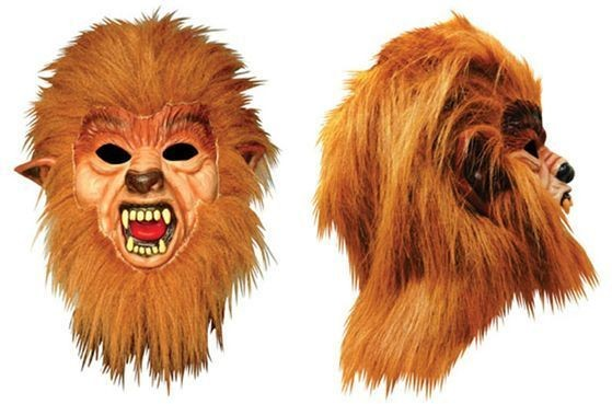 Werewolf Mask + Hair (Halloween Masks)