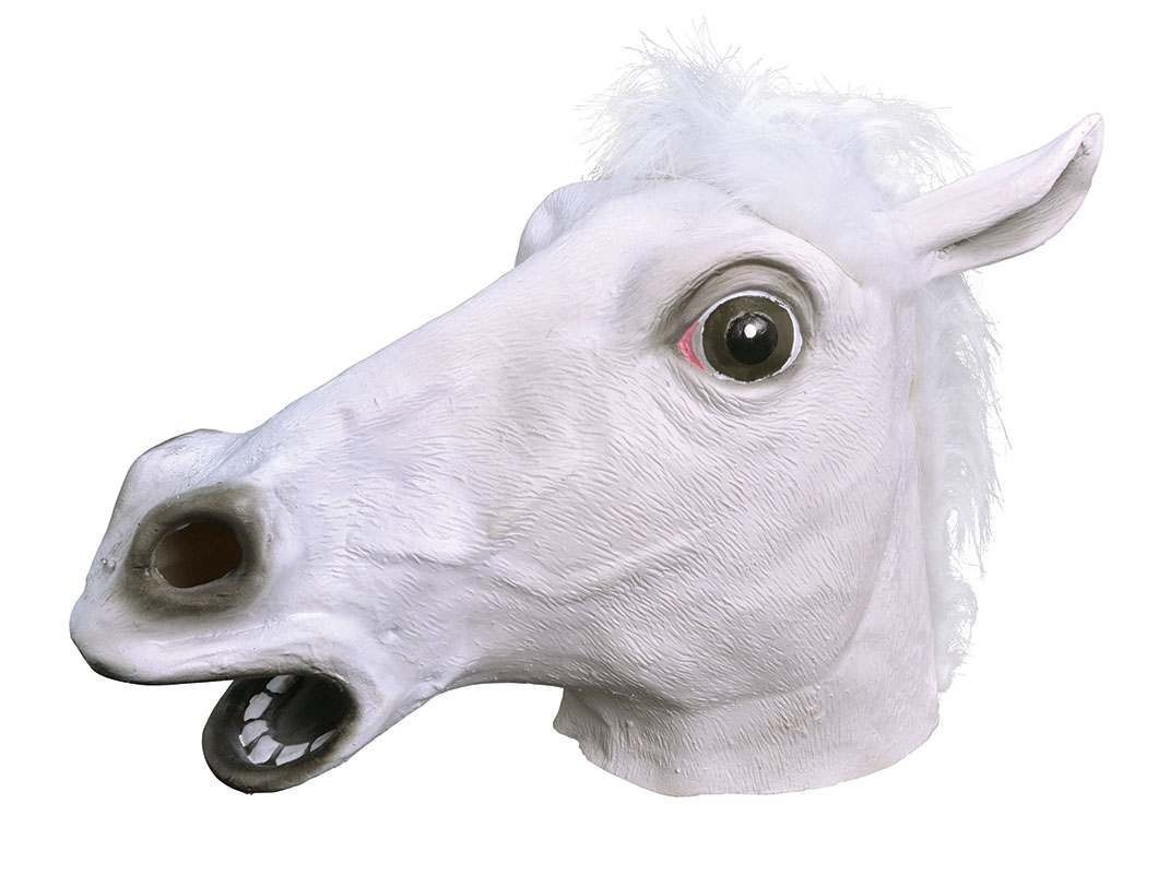 Horse. White Rubber Mask