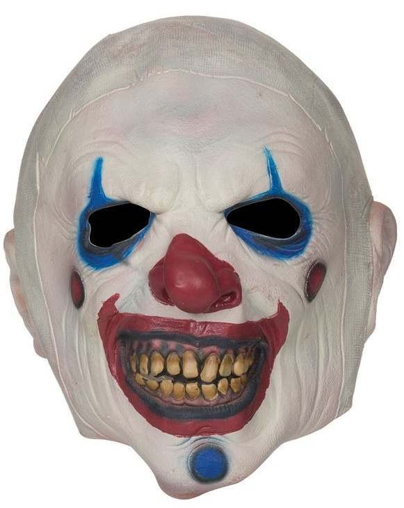 Adult Deluxe Twisted Clown Mask Halloween Fancy Dress Accessory