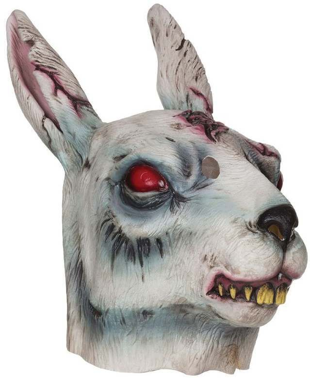Adult Deluxe Zombie Rabbit Halloween Mask
