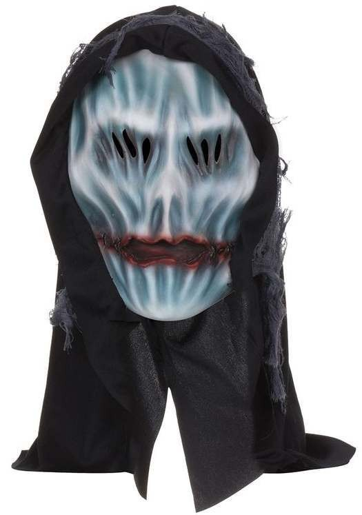 Adult Hooded Ghost Mask Halloween Fancy Dress Accessory
