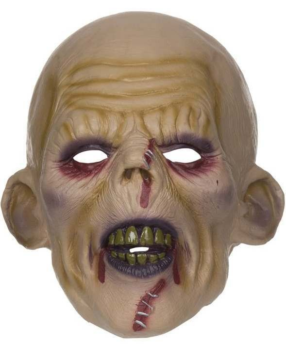 Adult Stiched Zombie Halloween Face Mask