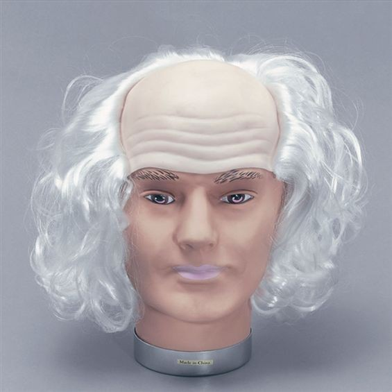 Old Man Wig. White Hair (Halloween Wigs)