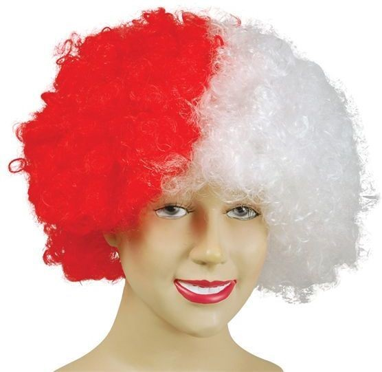 Pop Wig. Red/White (Cultures Fancy Dress Wigs)