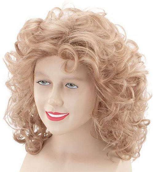 Sandy Wig. Blonde/Brown (1970S , Film Fancy Dress Wigs)