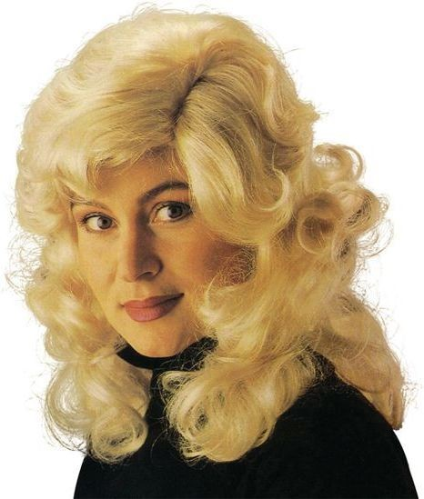 Dolly Parton Wig. Blonde (Music , 1970S Fancy Dress Wigs)