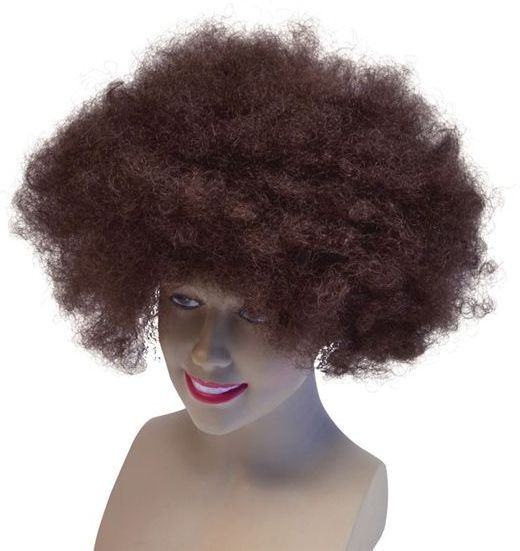 Afro 70'S Style Wig. Brown (1970S Fancy Dress Wigs)