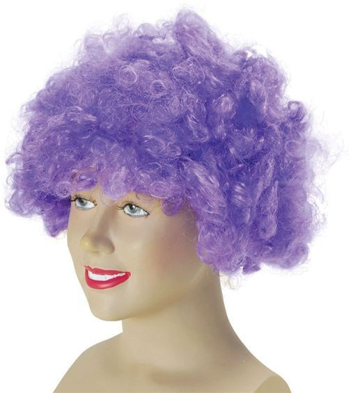 Pop Wig. Budget. Purple (Clowns , 1970S Fancy Dress Wigs)