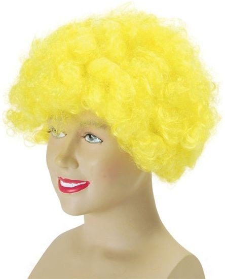 Pop Wig. Budget. Yellow (Clowns , 1970S Fancy Dress Wigs)