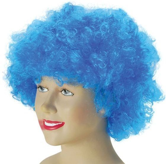 Pop Wig. Budget. Blue (Clowns , 1970S Fancy Dress Wigs)