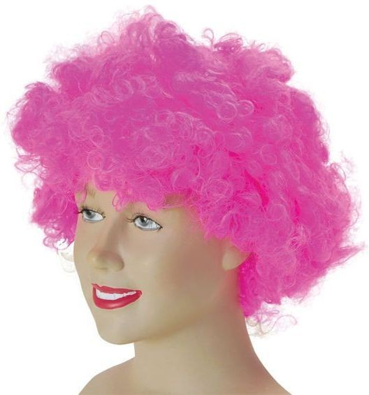 Pop Wig. Budget. Pink (Clowns , 1970S Fancy Dress Wigs)