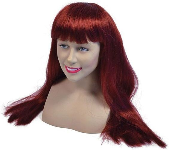 "Fringe Wig. 24""Auburn. Best (Fancy Dress Wigs)"
