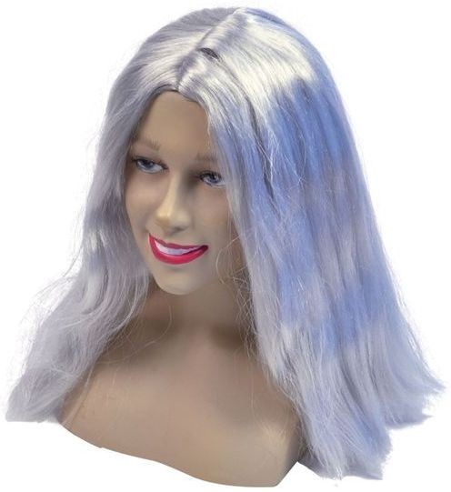 "Long 18"" Wig.Grey (Halloween Wigs)"