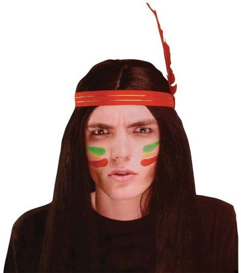 Indian Man Wig (Cowboys/Indians Fancy Dress Wigs)