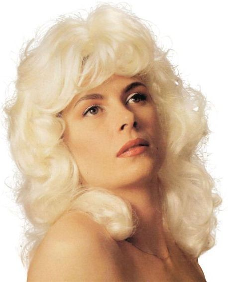 Dolly Parton Wig. White (Music Fancy Dress Wigs)