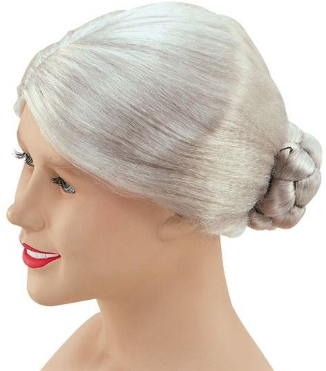 Charlie'S Aunt. Granny Wig Grey (Fancy Dress Wigs)