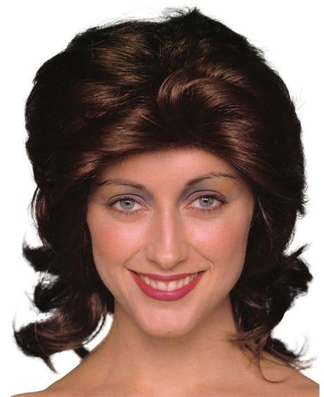 70'S Unisex Wig. Brown (1970S Fancy Dress Wigs)