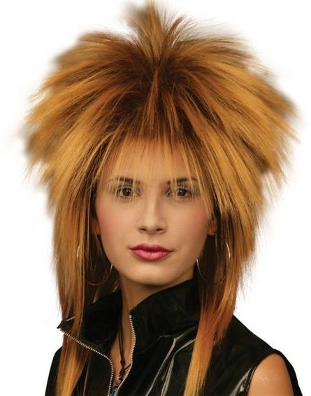 Tina Two Tone Wig. Gold/Black (1970S , 1980S Fancy Dress Wigs)