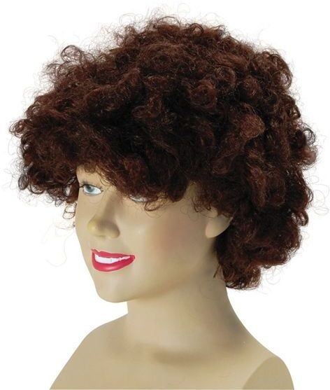 Pop Wig. Budget.Brown (1970S , Clowns Fancy Dress Wigs)
