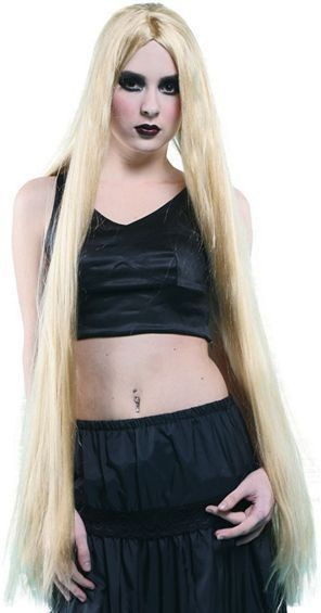 "Long 40"" Wig. Blonde (Fancy Dress Wigs)"