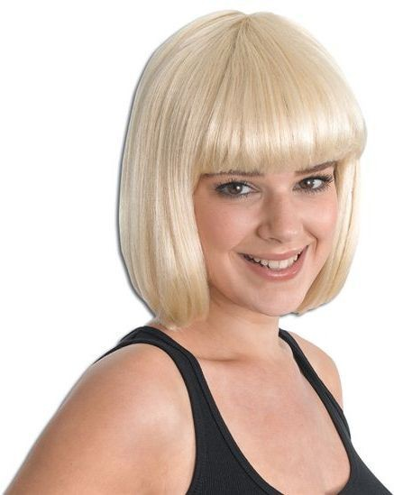 Cheerleader Blonde Budget Wig (Fancy Dress Wigs)