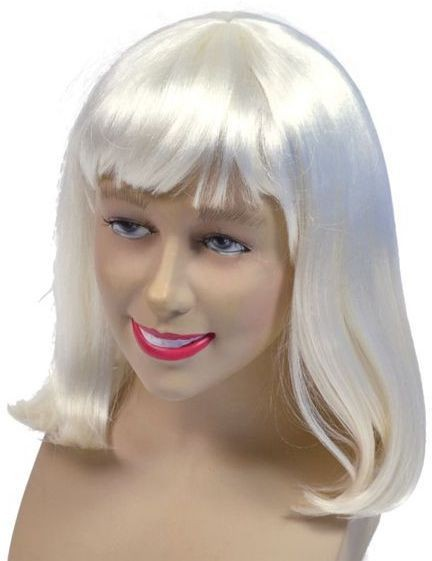Cheerleader Wig, Neon White (Halloween Wigs)