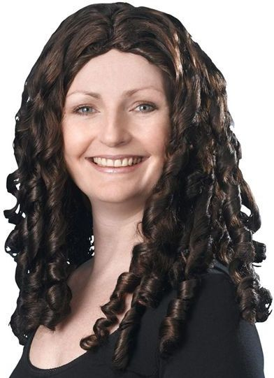 "Spiral Curly Wig 16"" Brown. (Fancy Dress Wigs)"