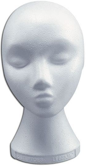 Polystyrene Head. Female (Fancy Dress)