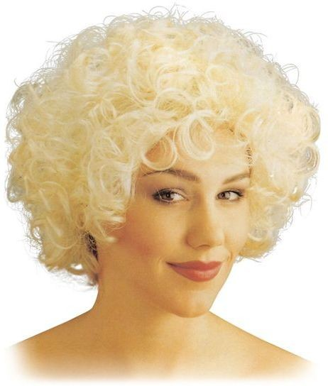 Curly Wig. Short Blonde (1920S Fancy Dress Wigs)