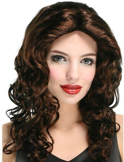 Wavy Wig Long. Budget.Brown (Fancy Dress Wigs)