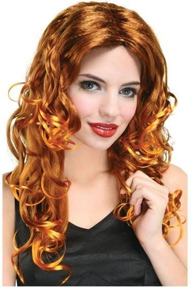 Wavy Wig Long. Budget.Auburn (Fancy Dress Wigs)