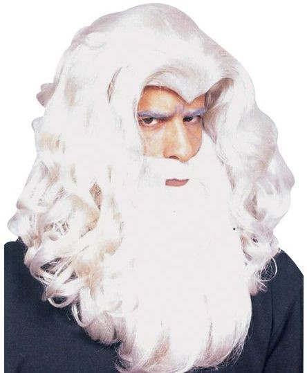 Wizard Gandalf Wig (Viking Fancy Dress Wigs)