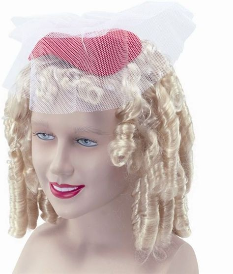 Shirley Temple Wig & Hat/Veil (Fancy Dress Wigs)