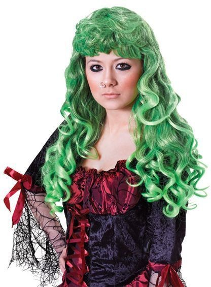 Cheryl Wig. Green/Black (Halloween Wigs)