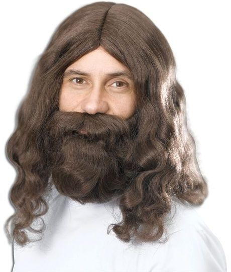 Hippy/Jesus Wig & Beard Set (1960S Fancy Dress Wigs)
