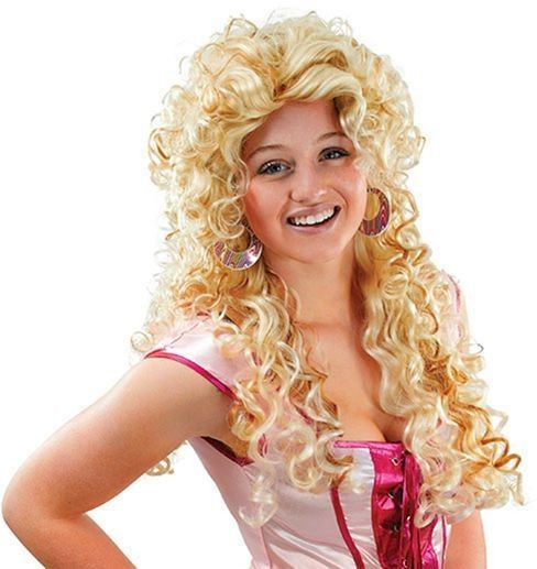 Ladies Wig Long Curls. Mixed Blonde (Fancy Dress Wigs)