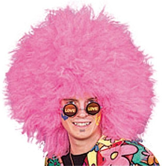 70'S Boy Pink Afro (1970S Fancy Dress Wigs)