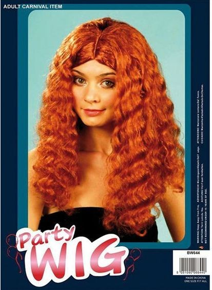Frizzy Wig Long. Auburn (Fancy Dress Wigs)