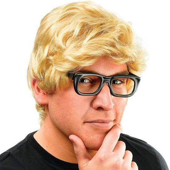 Michael Caine Wig & Glasses (Film Fancy Dress Wigs)