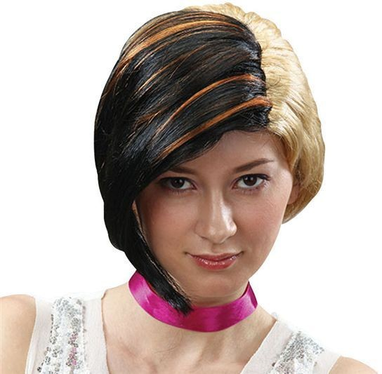 Swept Over Wig. Black/Blonde (1980S Fancy Dress Wigs)