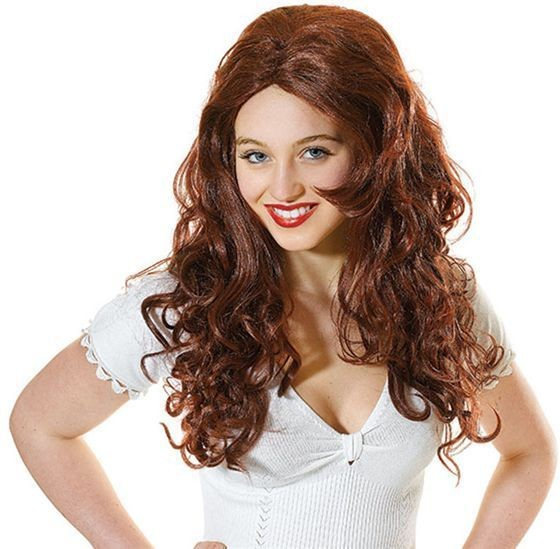 Sexy Super Model. Auburn (Fancy Dress Wigs)