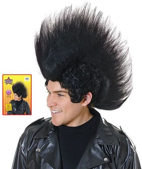 Monster Mowhawk Black (1980S Fancy Dress Wigs)