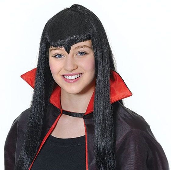 Vampiress. Black (Halloween Wigs)