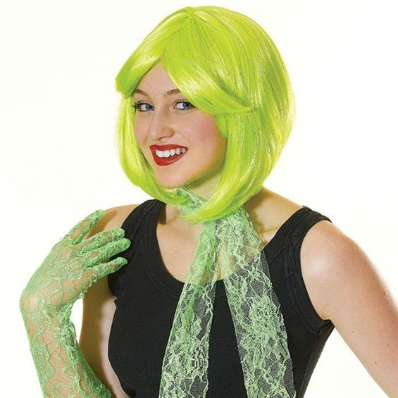 80'S Bob. Yellow (1980S Fancy Dress Wigs)
