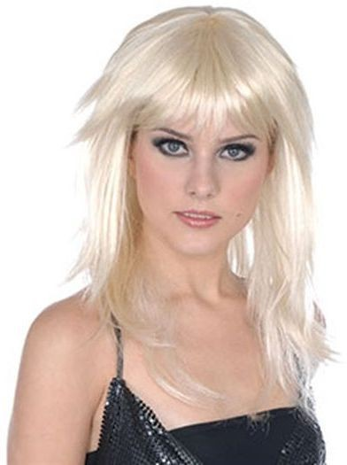 Fringe Layered Wig. Blonde (Fancy Dress Wigs)