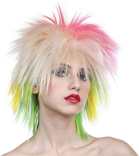 80'S Female Multi Coloured Wig (1980S Fancy Dress Wigs)