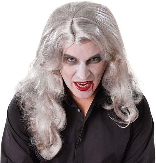 Old World Vampire. Grey (Halloween Wigs)